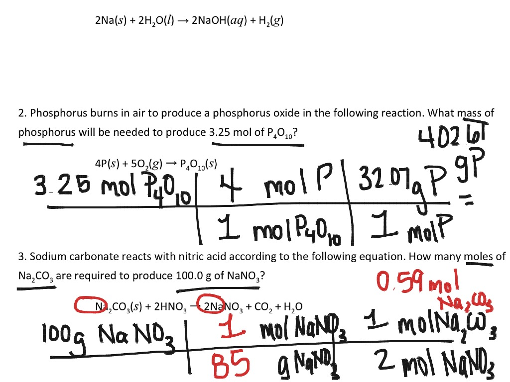 Mole mole stoichiometry worksheet chriswoodfans stoichiometry moles and mass science chemistry chemical robcynllc Images