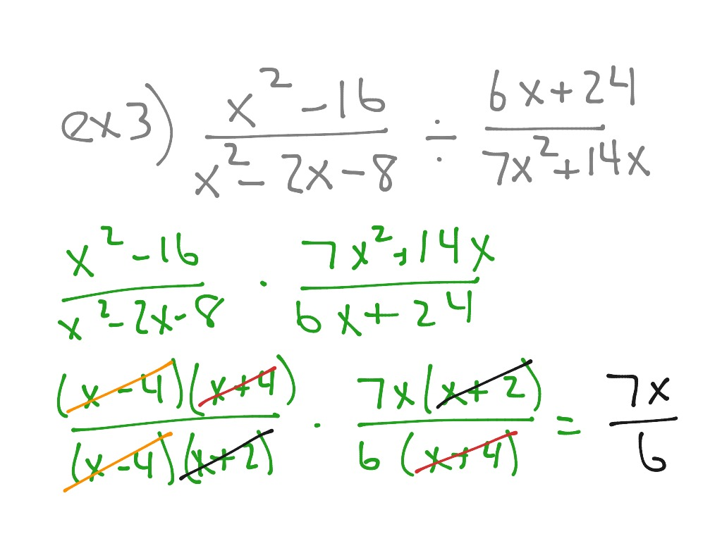 ShowMe - algebra 2 8-1 Multiplying and Dividing Rational Expressions