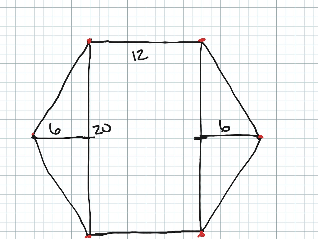 How to draw a regular hexagon on graph paper | Math | ShowMe