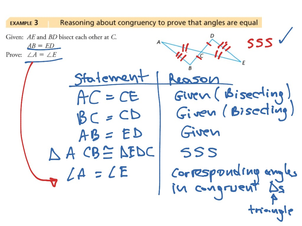 ShowMe - proving triangles congruent proofs