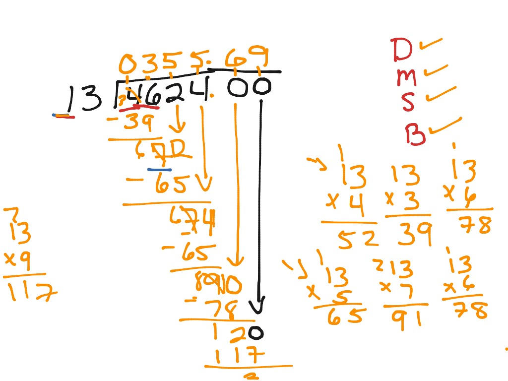 ShowMe - partial quotient division with decimals and remainders