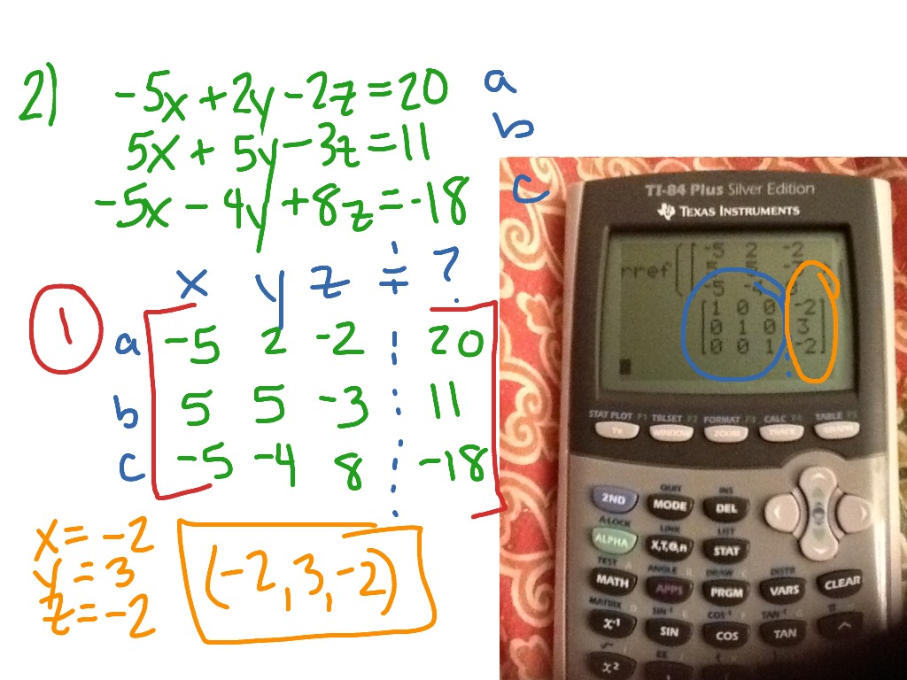 Solving A System Of 3 Equations In Unknowns Calculator ...