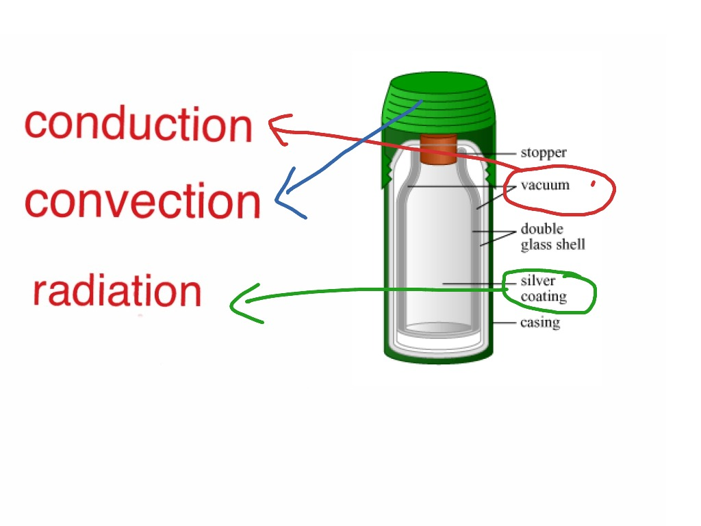 Thermos flask heat loss science physics heat showme How to prevent heat loss