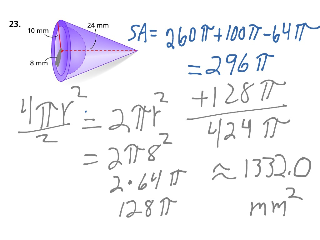 ShowMe Surface area of a solid figure – Surface Area of Solids Worksheet