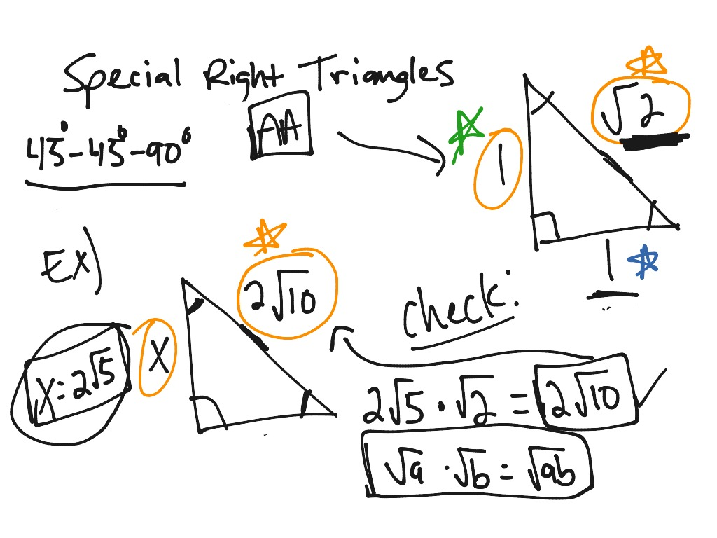 Special right triangles 45 45 90 math geometry triangles special right triangles 45 45 90 math geometry triangles right triangles showme robcynllc Image collections