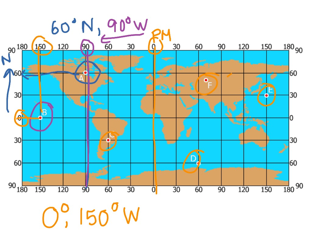 how to find latitude and longitude on a map
