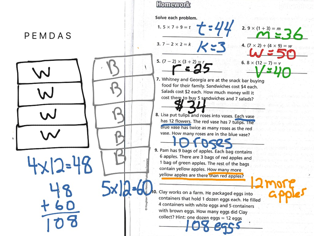 ShowMe - go math grade 4 homework answer lesson 1.4