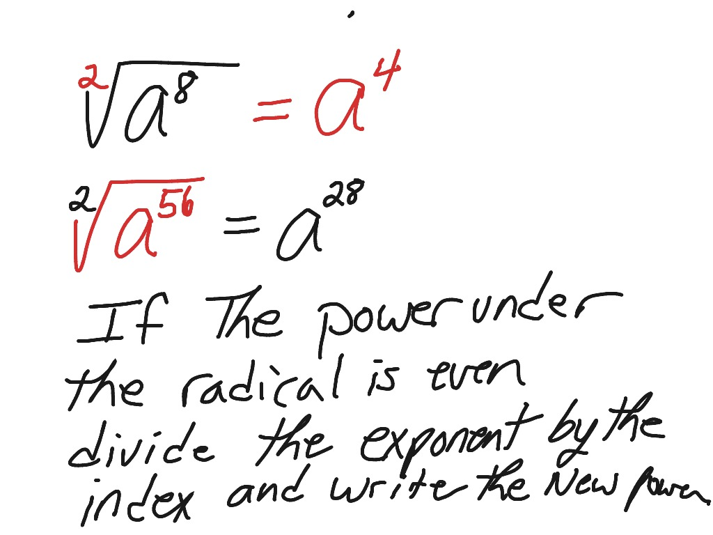 Showme simplifying radicals with variables and exponents most viewed thumbnail robcynllc Image collections