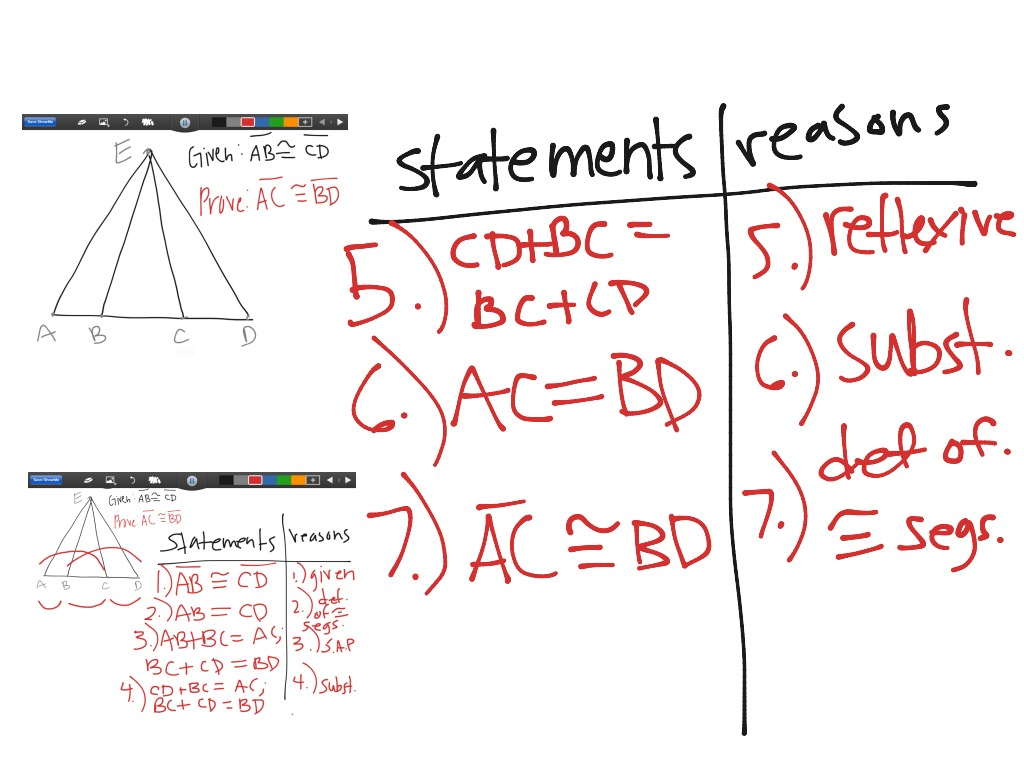 Proving Segment Relationship with 2Column Proof – Two Column Proofs Worksheets