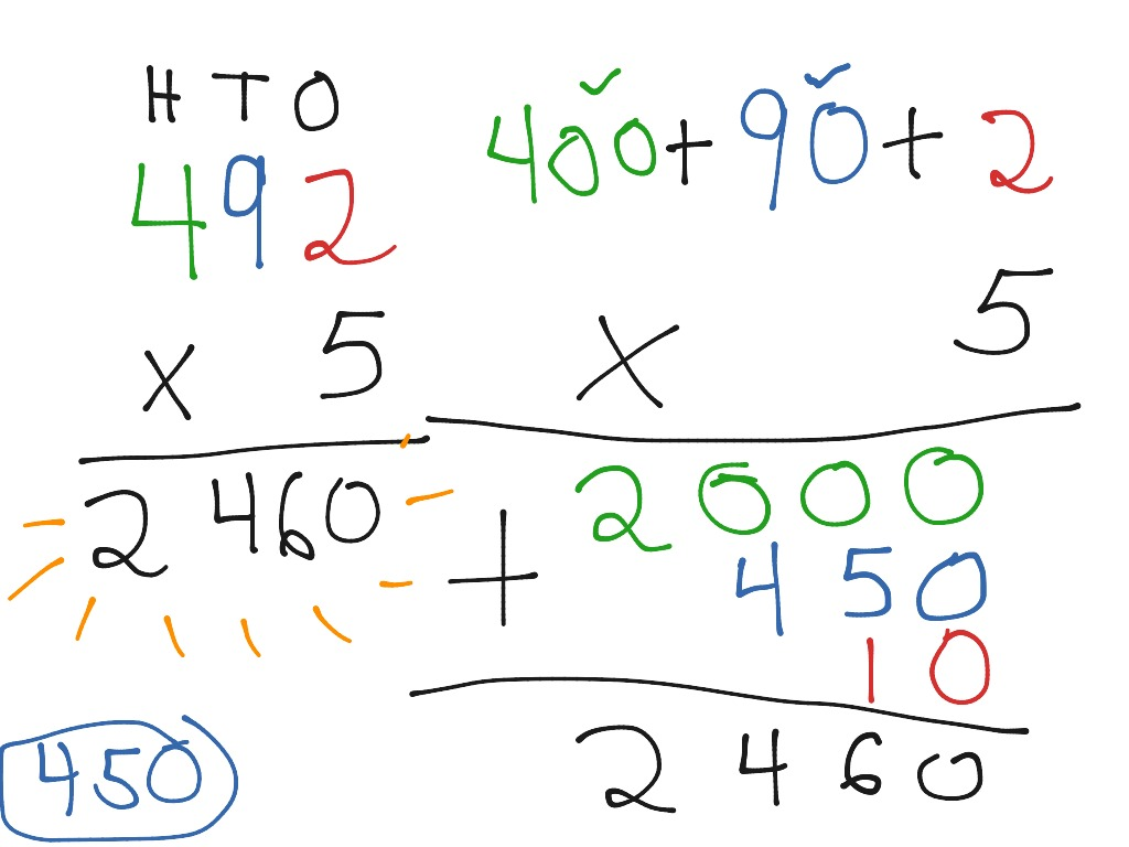 math worksheet : multiplying 3 digit numbers using expanded form  math elementary  : Expanded Form Multiplication