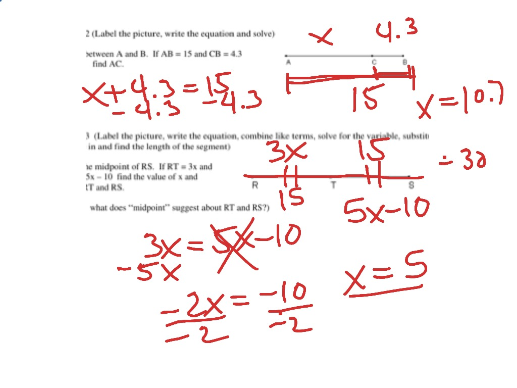Worksheets Angle Addition Postulate Worksheet segment addition postulate geometry showme