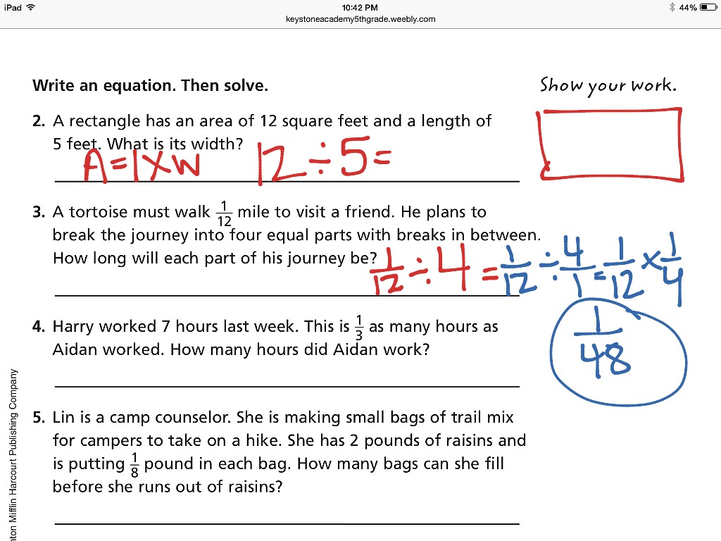 Word problem worksheets: Division of whole numbers with fractional answers | K5 Learning