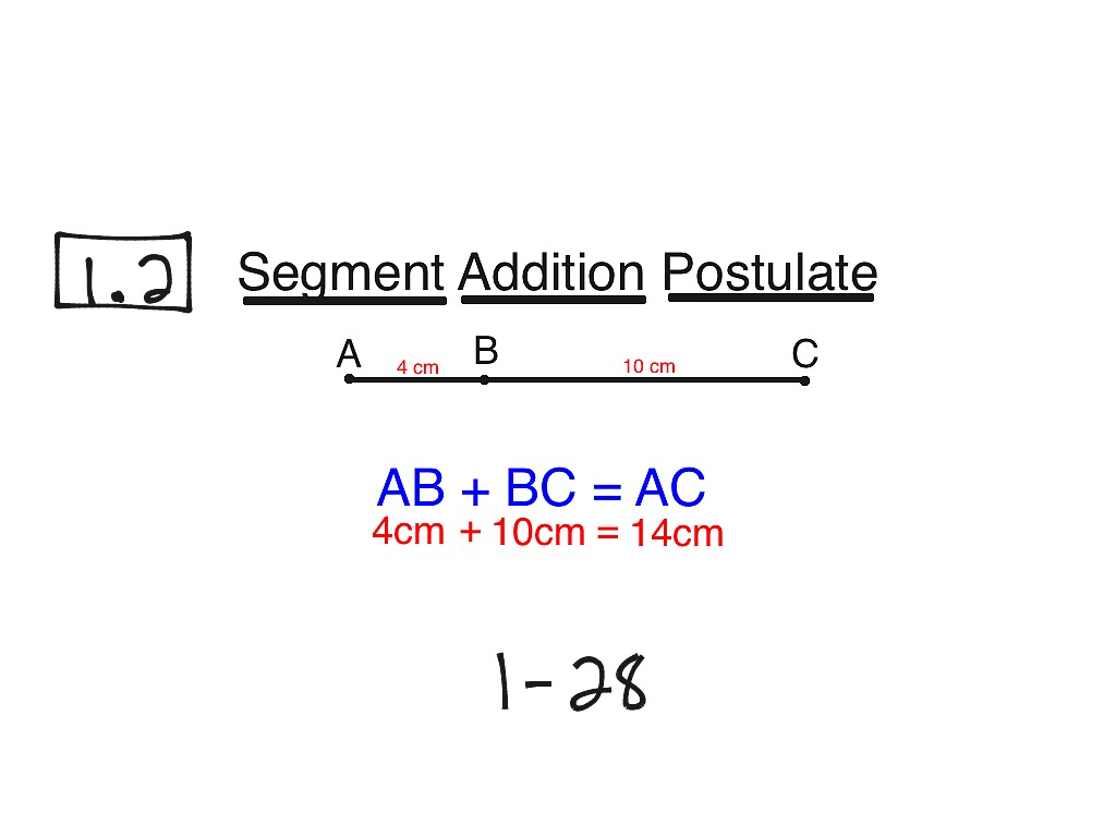 Showme Segment Addition Postulate