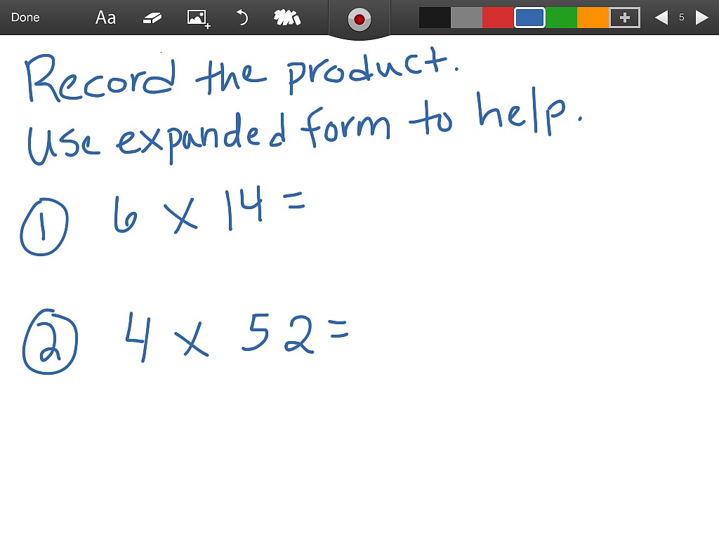 Showme 4th grade math multiply using expanded form lesson 26 most viewed thumbnail 26 multiply using expanded form falaconquin