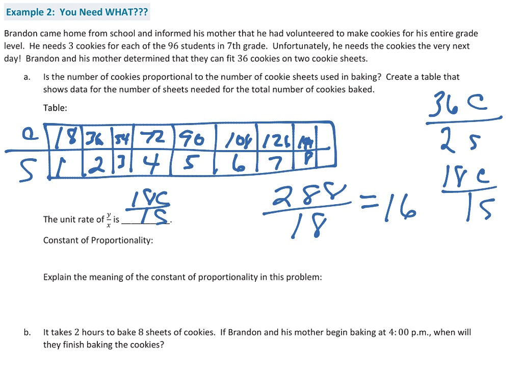 Showme Calculate The Constant Of Proportionality