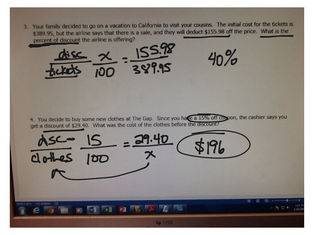 how to find the price after discount