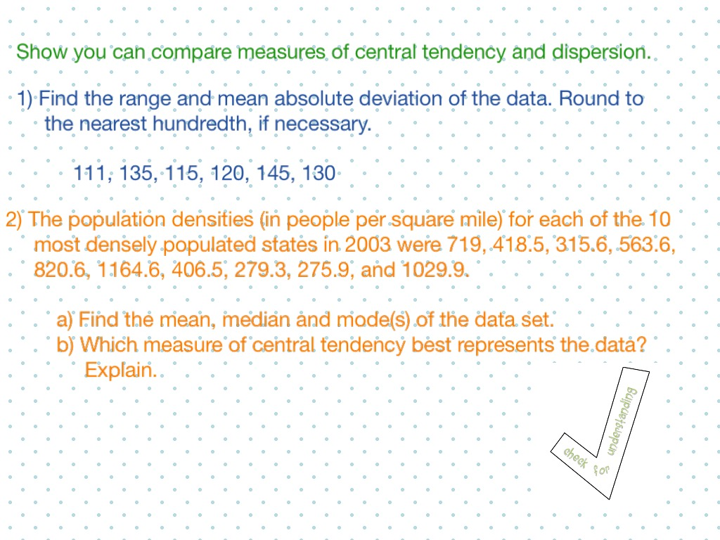 worksheet Measure Of Central Tendency Worksheet showme measures of central tendency most viewed thumbnail use and dispersion