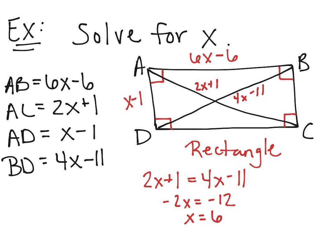 Special Parallelograms Math Geometry Quadrilaterals