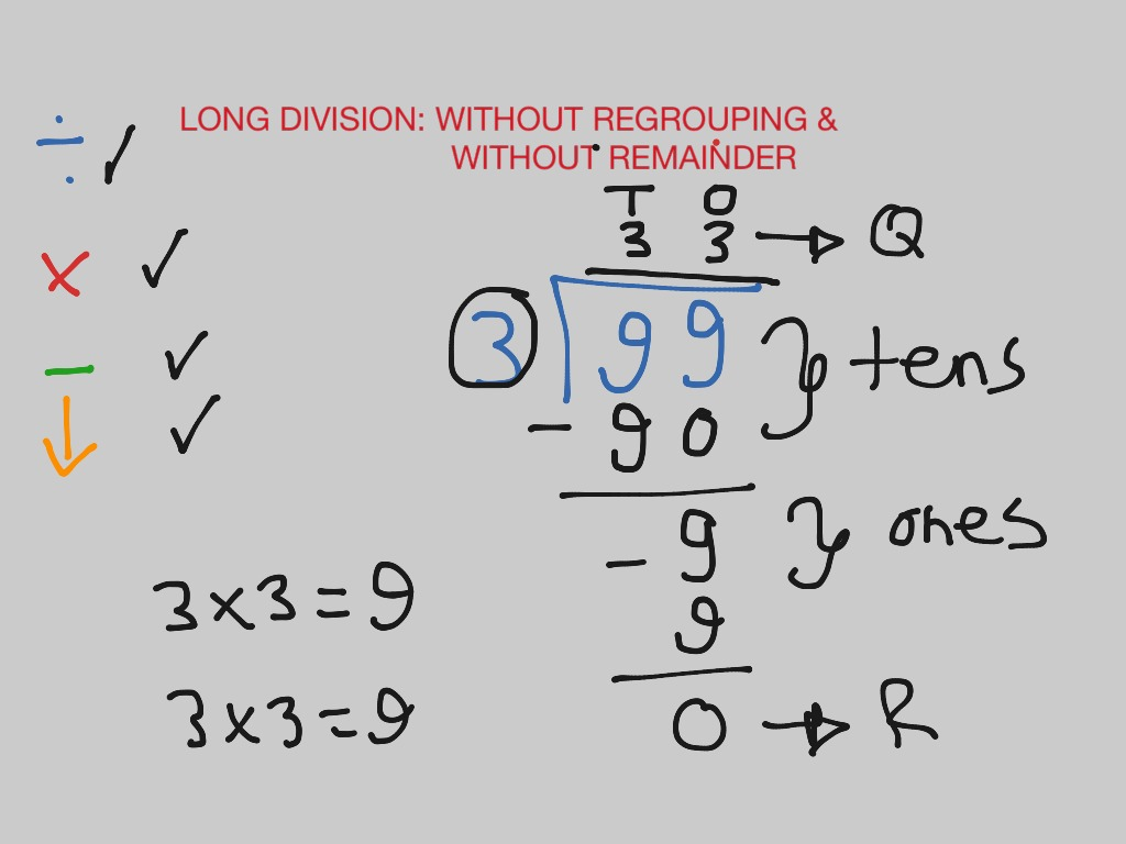 worksheet Division Without Remainders Worksheet long division without regrouping remainder math elementary 3rd grade showme