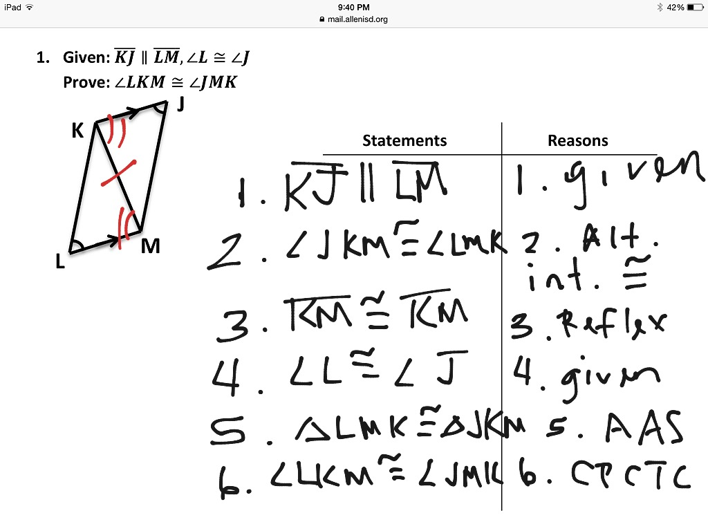 worksheet Cpctc Worksheet showme prove that parts of two triangles are congruent using most viewed thumbnail