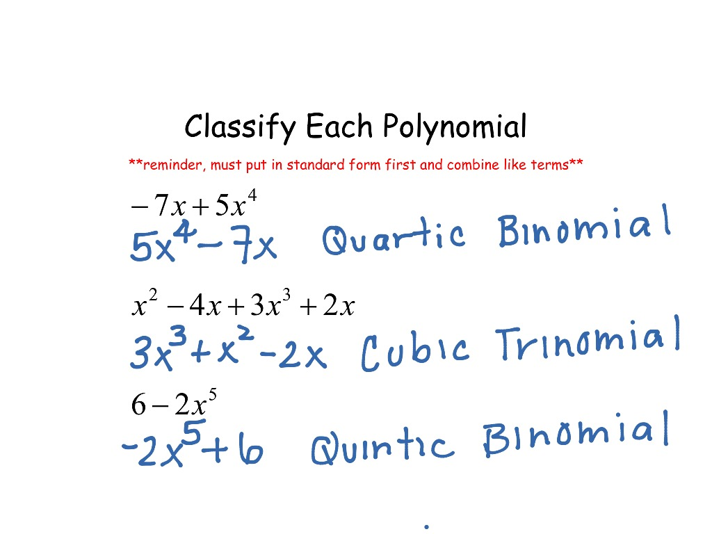 Worksheets Classifying Polynomials Worksheet showme classifying polynomials most viewed thumbnail