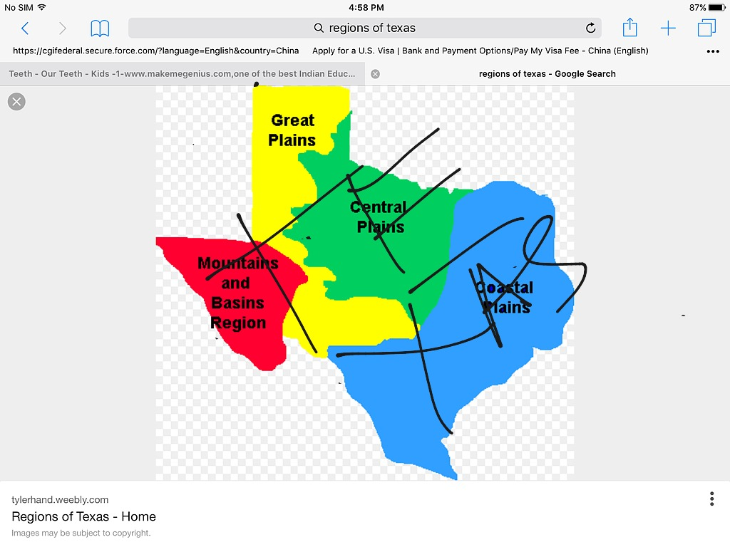 Regions of Texas (overview) | Science | ShowMe