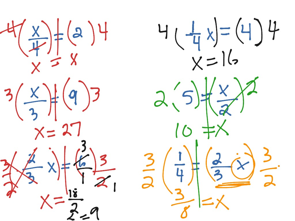 Showme Solving Multiplication And Division Equations