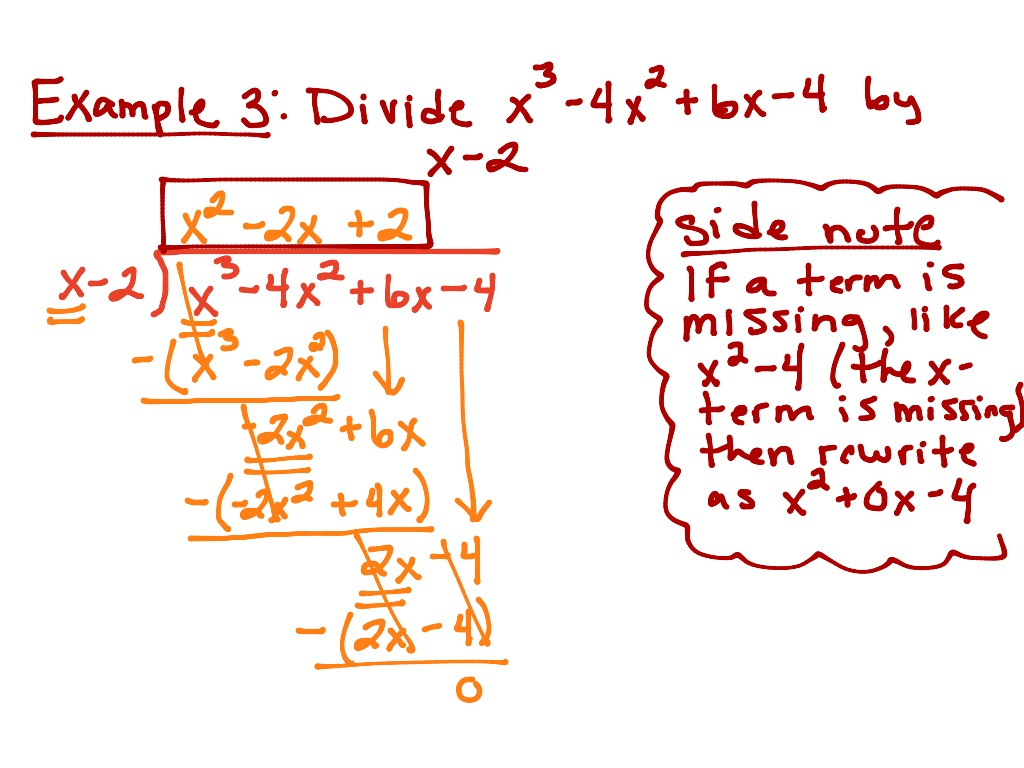 ShowMe - 6.3 dividing polynomials using long division