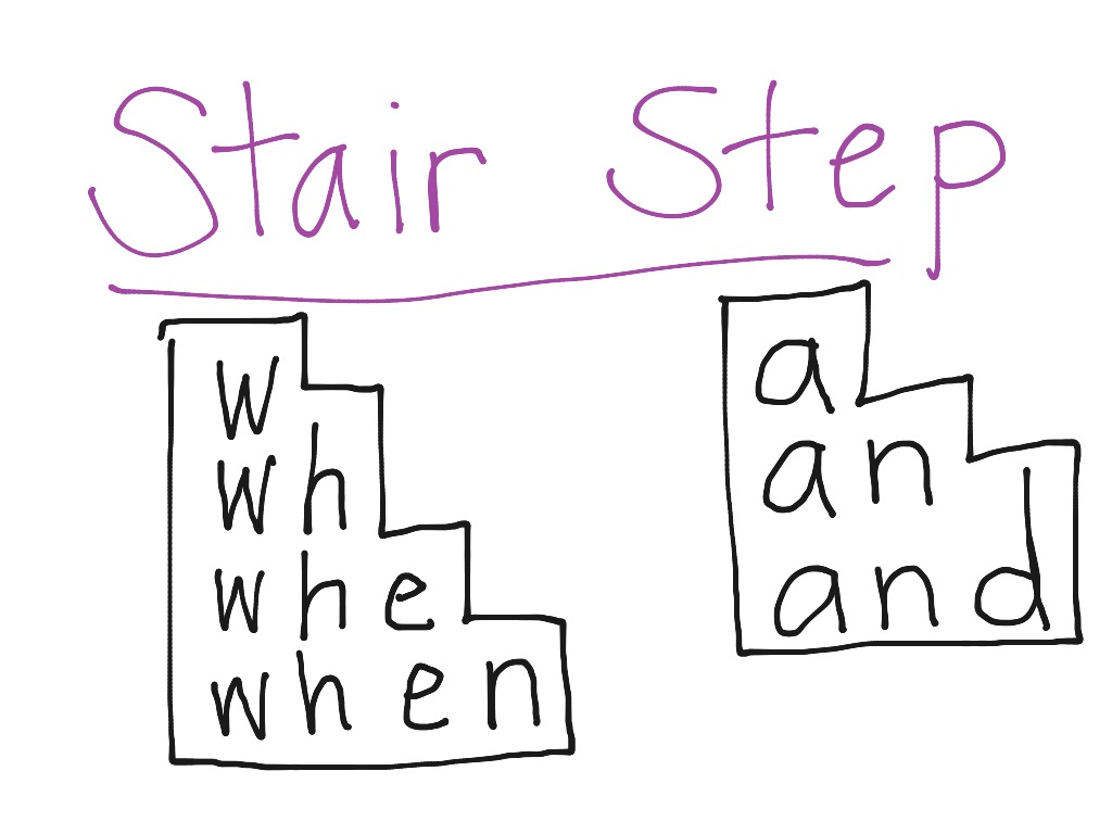 Stair Step Spelling | Language | ShowMe