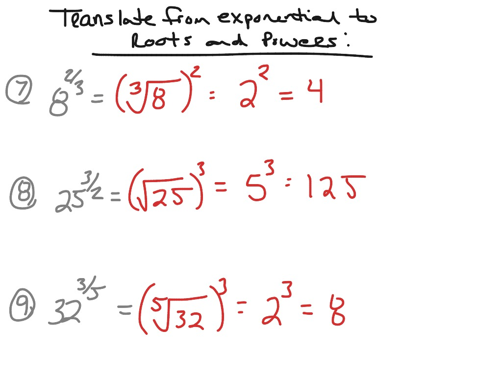 Convert from exponential to radical form | Math, Algebra ...