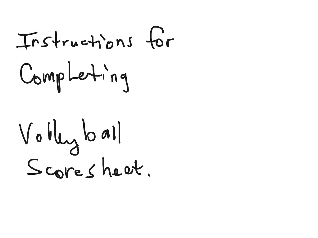 How To Score Volleyball Sheet Showme