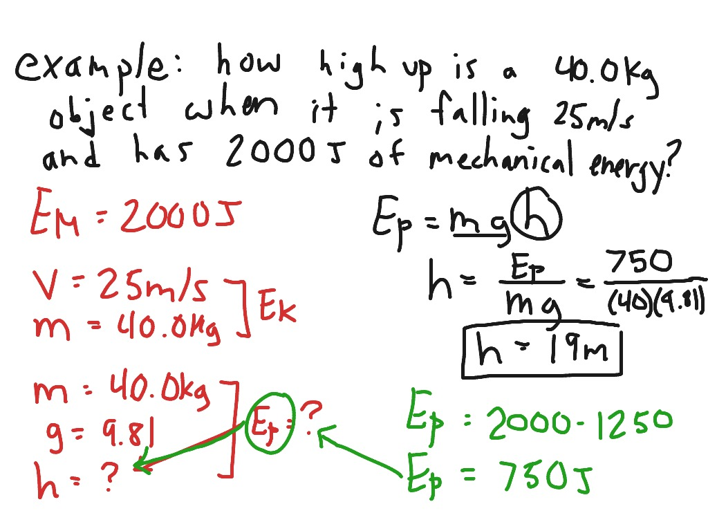 Science 10 Physics 14 Mechanical Energy Science Physics Showme