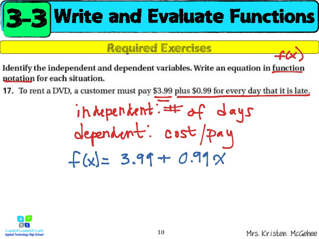 how to find the independent variable