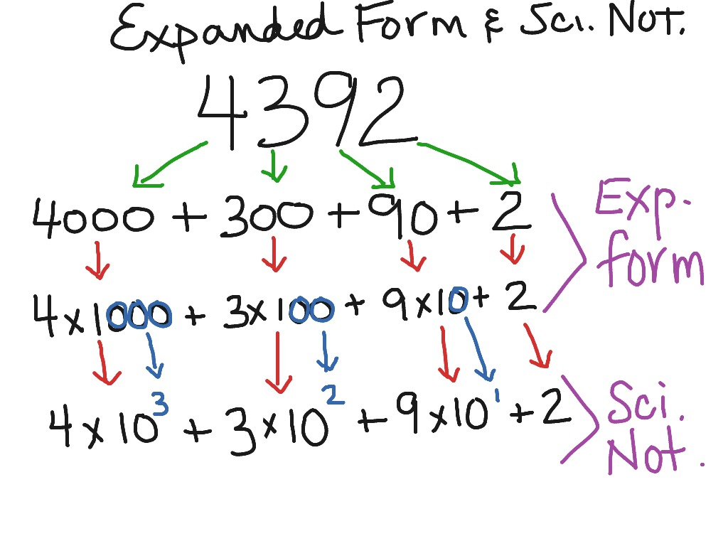 expanded form notation  Expanded form and scientific notation | Math | ShowMe