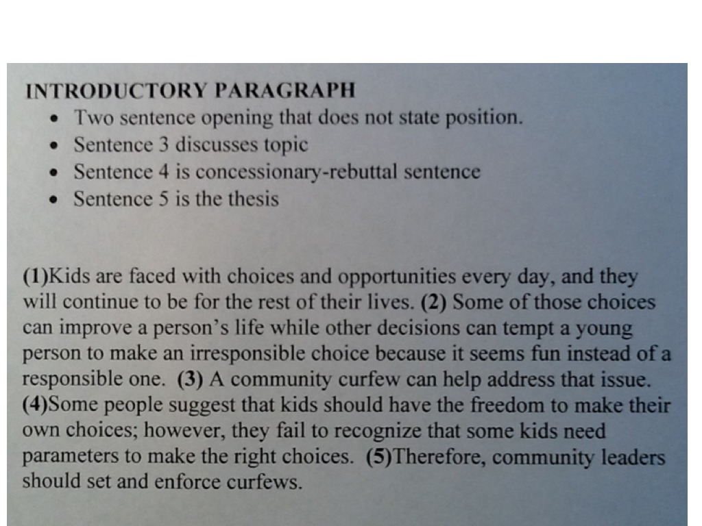 college level introductory paragraph
