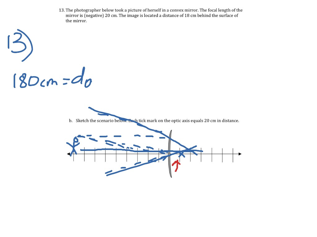 Worksheet 84 Problem 13 Science Physics Light Reflection Showme