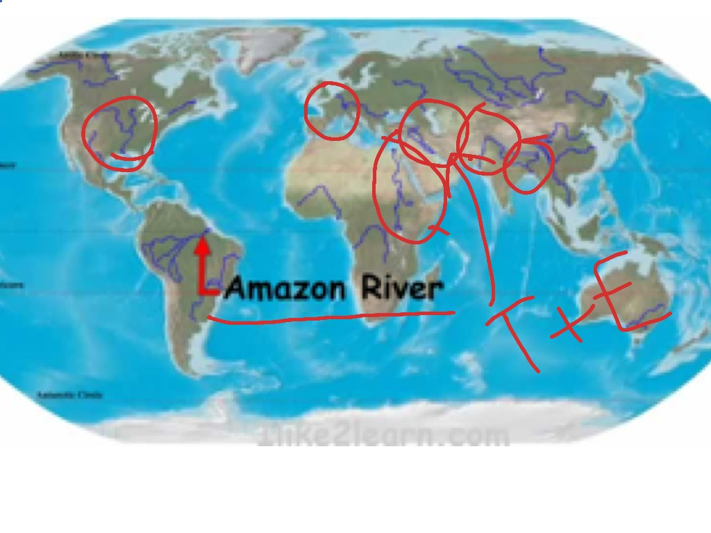 MAJOR RIVERS OF THE WORLD ShowMe - Most important rivers in the world