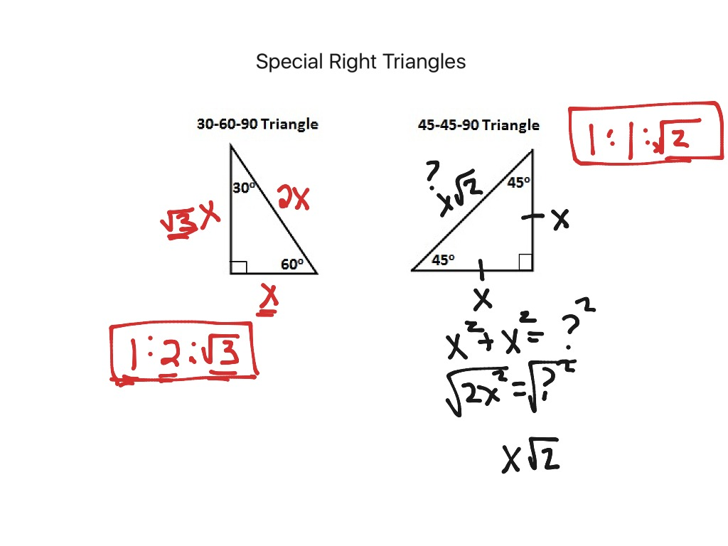 8.4 Special Right Triangles | Math, geometry | ShowMe