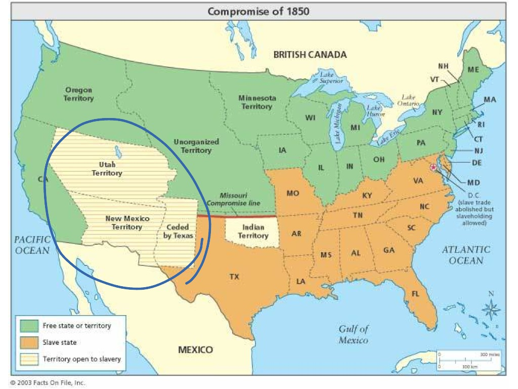 compromise of 1850 and the missouri compromise by michael