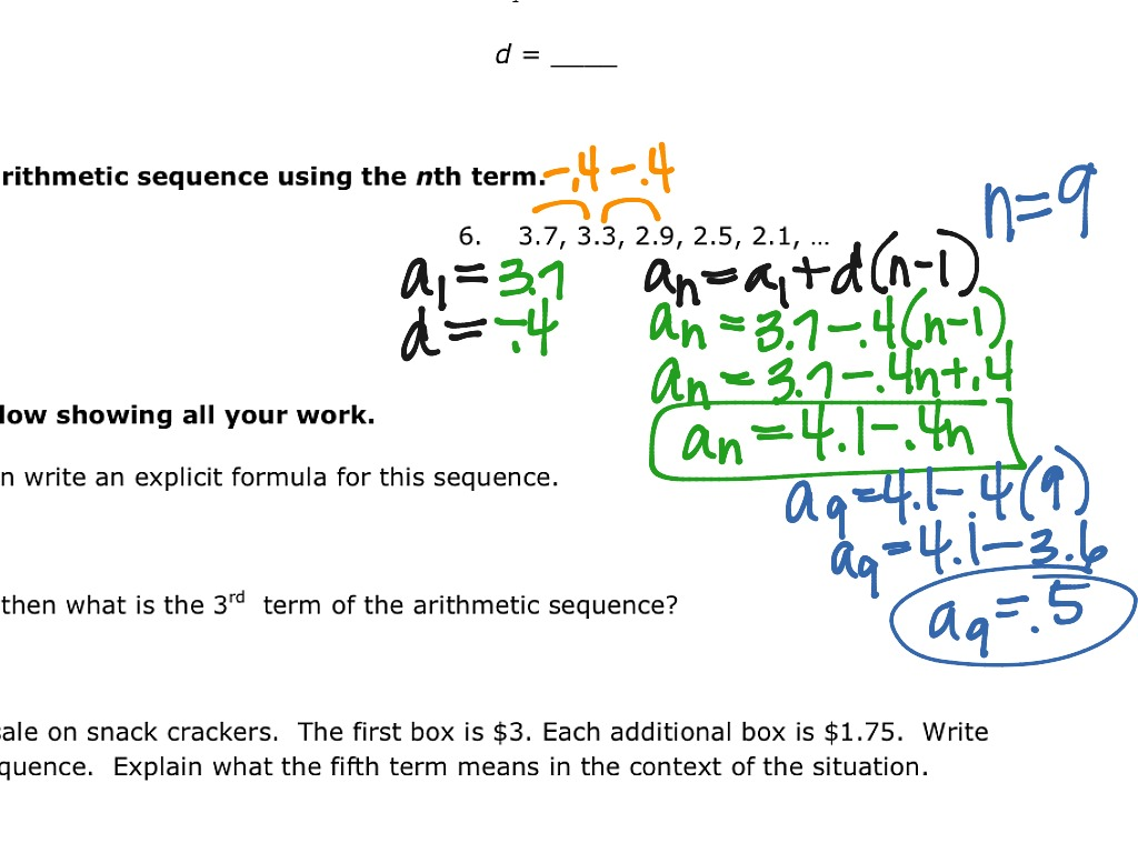 worksheet Arithmetic Sequences As Linear Functions Worksheet showme arithmetic sequences linear functions most viewed thumbnail