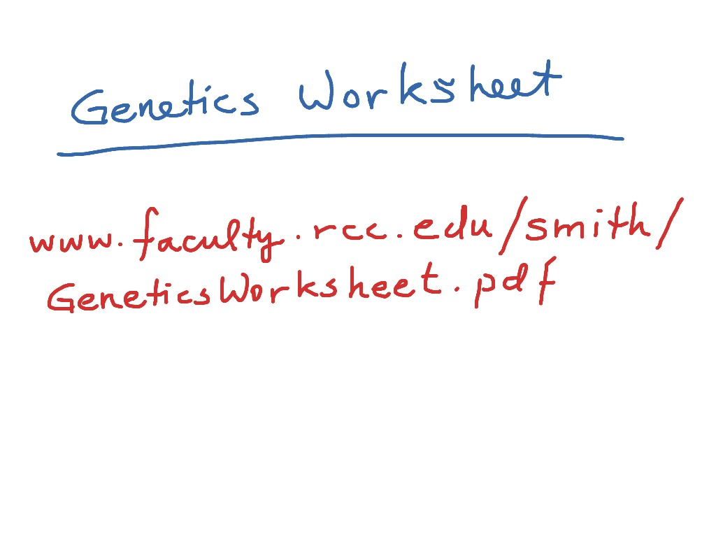 Genetics Worksheet Genetics Microbiology – Genetics Worksheet