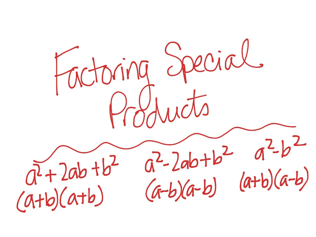 ShowMe factoring with generic rectangle – Factoring Special Products Worksheet