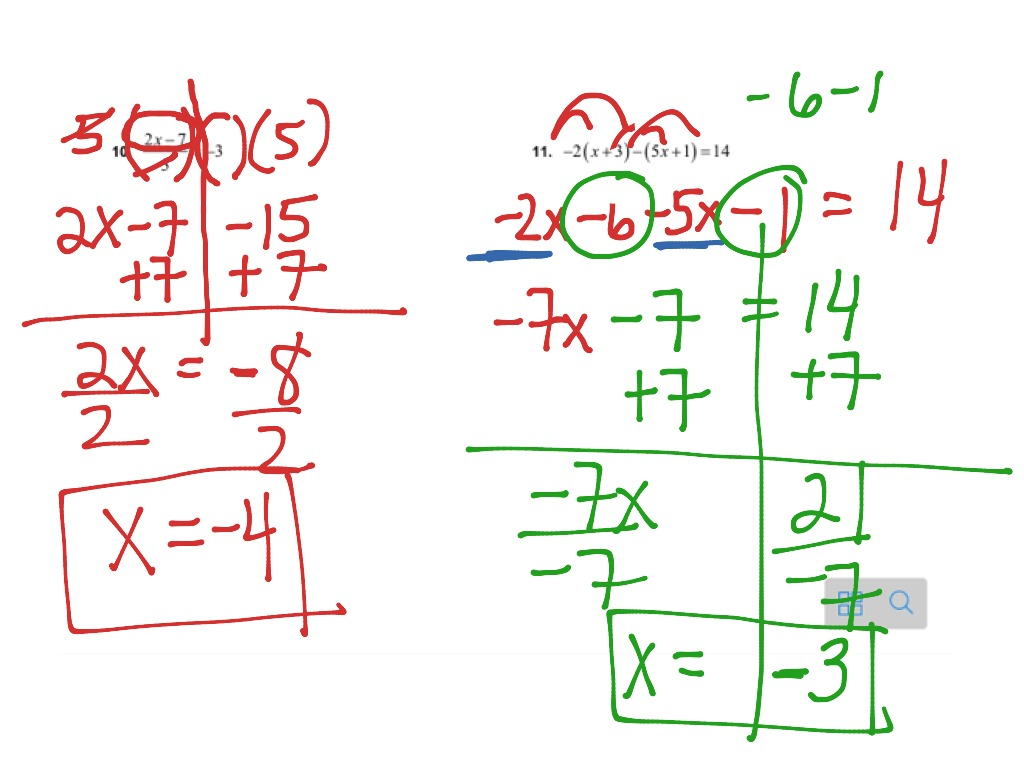 Showme Practice Solving Multi Step Equations Day 2