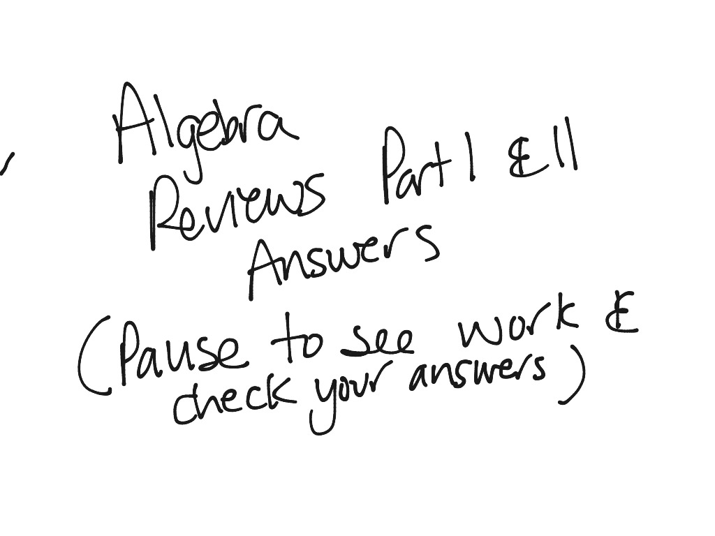 most-viewed-thumbnail. Algebra Semester Reviews Part 1& 2 ...