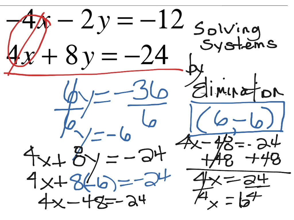 solving a systems of equations by How to solve system of equations: before we get into solving systems of linear equations via the substitution method, let's first consider and understand what it.