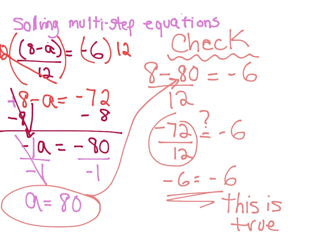 Solving Multi-Step Equations | Math, Algebra, solving-equations ...