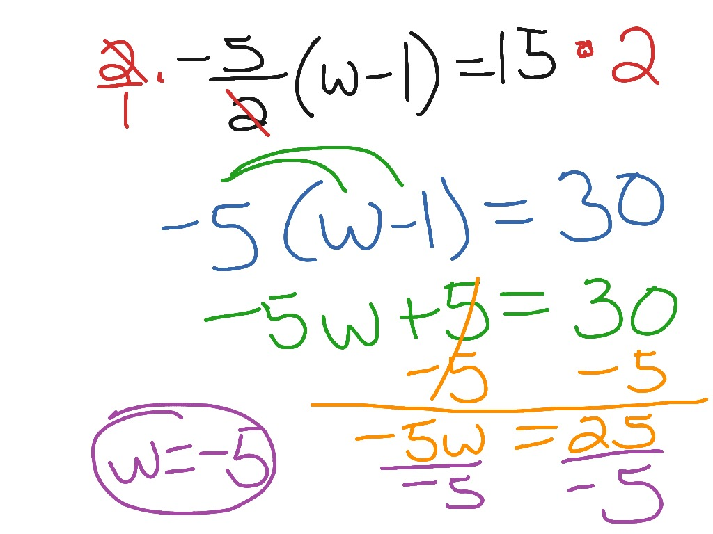 worksheet Multi Step Equations With Fractions multi step equations with fractions showme