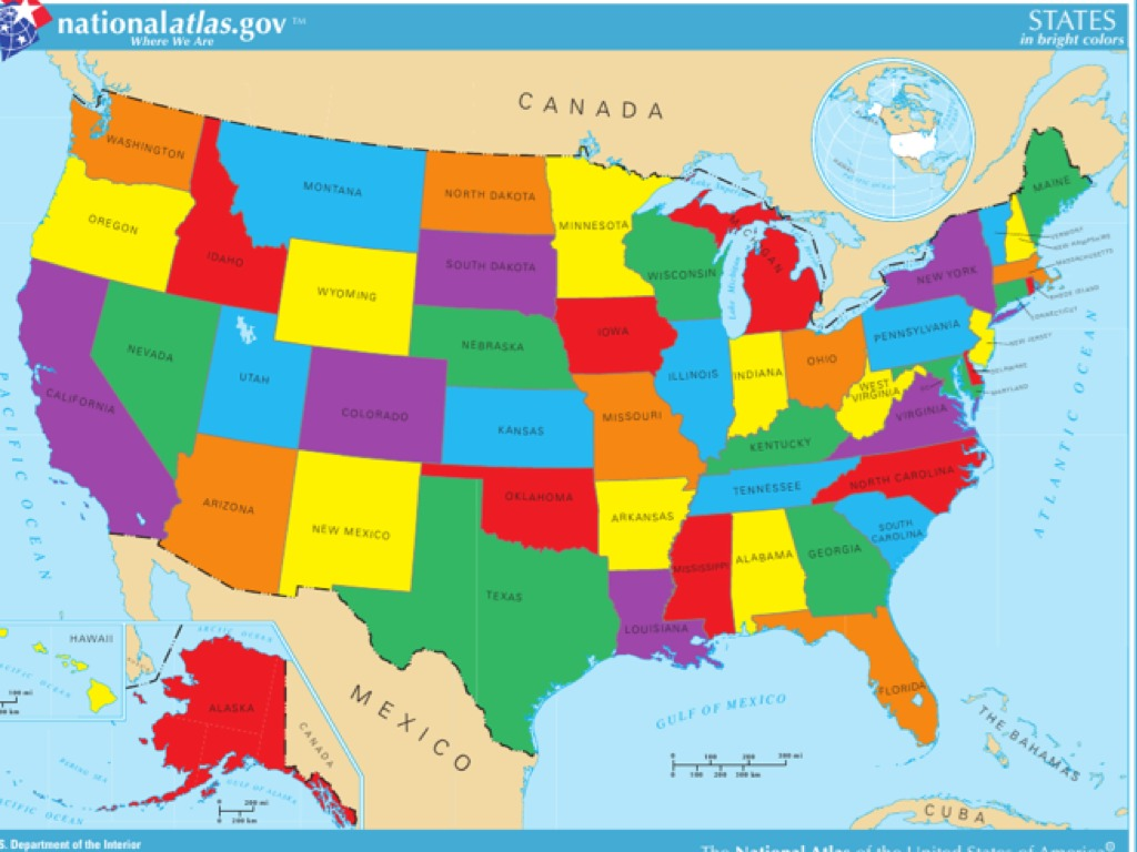 Show Me Map Of Us United states map | Social Studies | ShowMe