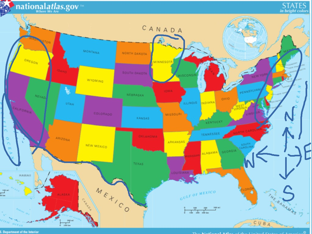 United states map | Social Studies | ShowMe