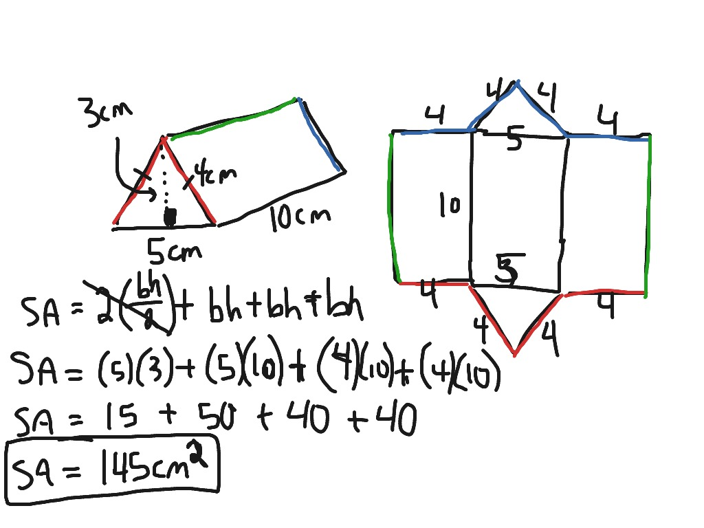 worksheet Surface Area Of A Pyramid showme surface area triangular pyramid grade 6 most viewed thumbnail area